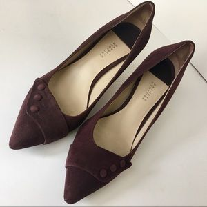 Barneys New York brown suede pumps size:9 1/2